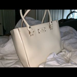 Kate Spade cream Wellesley Martine tote bag